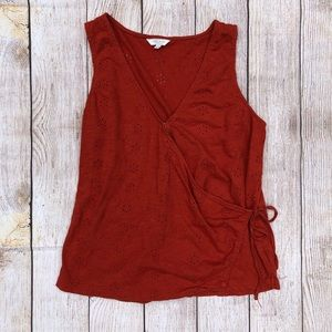 Lucky Brand | Tie Top | Burnt Orange | Medium
